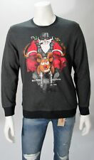 Ugly Christmas Sweater Fleece Men's Santa & Reindeer Motorcycle Sz M, L NWT