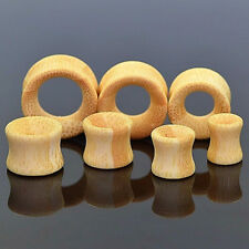 6MM-20MM OHR TUNNEL HOLZ BAMBUS PLUG NATUR PIERCING OHRSTECKER EDELHOLZ PLUGS