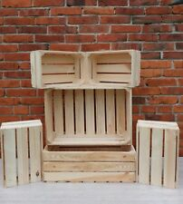 3,6,9,12 Strong&Solid Vintage Wooden Fruit Apple Crates Boxes Decor New&Clean