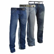 Mens Jeans Smith & Jones Flared Denim Trousers Casual Pants