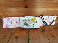 Disney Primark Tinkerbell Sleeping Beauty coin purse small make up cosmetic bag
