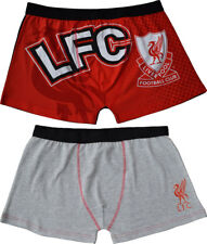 Liverpool FC Trunks 2 Pairs Mens Boxer Shorts Underwear Pants