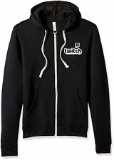 Twitch Full Zip Unisex Logo Hoodie Twitch Con 2017 Black Offical