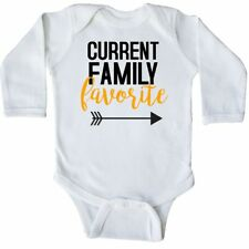 Inktastic Current Family Favorite Long Sleeve Creeper Baby Toddler Arrow Heart