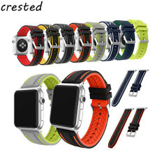CRESTED sport colorful Silicone Watch Band For apple Watch band 42mm 38mm Buckle