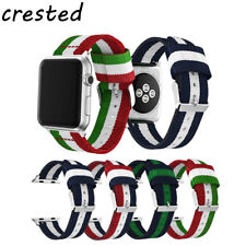 CRESTED color woven nylon strap for apple watch band 42/38mm bracelet belt for