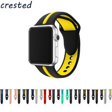 CRESTED silicone strap band for apple watch 42mm/38 Double color rubber bracelet