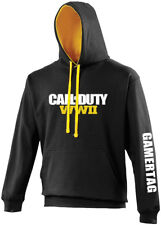 Personalised Gamertag Call Of Duty WWII 2 Adult Gamer Hoodie Gift Xbox PS4 PC K3CMGe2Xnx
