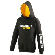 Personalised Gamertag Call Of Duty WWII 2 Adult Gamer Hoodie Gift Xbox PS4 PC ghkGqgvUHp
