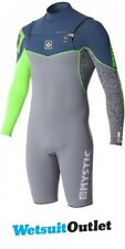 Mystic Blackshot 3 / 2mm GBS Chest Zip Long Sleeve Shorty Lime 160860