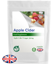 Apple Cider Vinegar (120 Capsules) Strong Diet, Weight, Sugar Control, UK Made