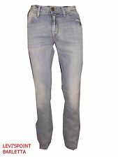Jeans Meltin'Pot Maner Uomo Slim Stretch Celeste Taglia W 29 30 31 32 33 34 36