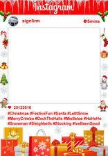 Christmas Xmas Selfie Board Frame. Facebook Party. Instagram Photo Prop Cut Out