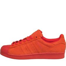 adidas Originals Mens Superstar RT Perf Suede Trainers Red/Red/Red