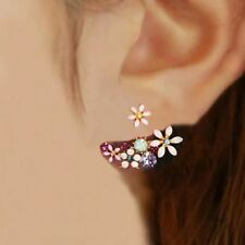 Crystal And Imitation Pearl Floral Stud Earring Flowers Earring Hot Selling sale