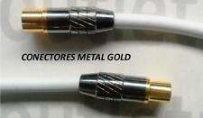 CABLE ANTENA TV MACHO a HEMBRA PAL GOLD METAL Disponible desde 0.75 hasta 10m.