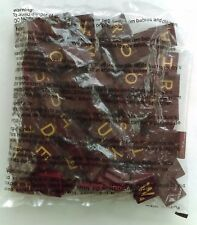 NEW - 1999 Deluxe Scrabble - 100 Maroon Gold Replacement Tiles BAG Complete Set