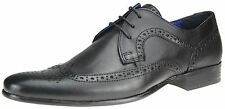 RED TAPE Louth Negro Zapatos Oxford Con Cordones Hombre Formal Elegante
