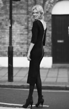 TWISTED MUSE black Zip Mid Length Bodycon Fitted Sexy Dress RRP£140  BNWT SIZES