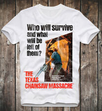 T SHIRT TEXAS CHAINSAW MASSACRE LEATHERFACE 70s RETRO VINTAGE HORROR MOVIE FILM