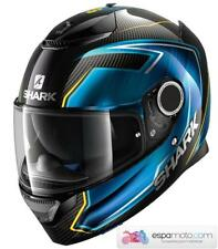 Casco SHARK Spartan Carbon GUINTOLI Carbon / Blue / Yellow
