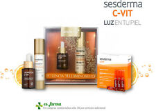 SESDERMA C-VIT BOCCETTE PACK SERUM 30ML GEL CREMA 50ML CVIT ANTIOX LUMINOSITÀ