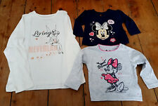 Disney Primark Minnie Mouse Tinkerbell baby girls long sleeve shirt jumper