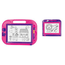 Magnetic Drawing Board 2 Pack Pink Purple Colorful  2 Stampers Doodle Fun Carry