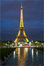 Poster Eiffel Tower and reflection at twilight, Paris, France,... - R. Nebesky