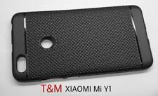 T&M Dotted Soft Matte Finish Back Cover Case for Redmi Y1 - Black