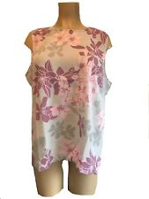 PLUS SIZE CREPE DRESSY PALE GREY PINKS BLOUSE WEDDING PARTY 16 18 20 22 24 26