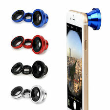 3 in 1 New Fisheye Lens Wide Angle Macro Clip On Camera Lens Zoom iPhone Samsung