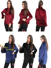 New Women's Ladies Casual Velvet Loose Blouse OL Top