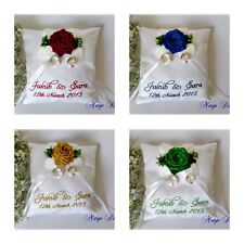 PERSONALISED EMBROIDERED WEDDING RING CUSHION