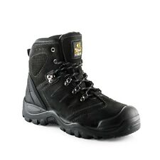 Buckler BSH0007BK Anti-Scuff Safety Work Boots Black (Sizes 6-13) Mens Steel Toe