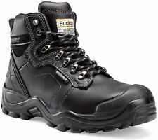 Buckler BSH009BK Waterproof Anti-Scuff Safety Work Boots Black (Sizes 6-13) Mens
