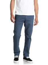 Mens Quiksilver Everyday Chino Trousers - Denim