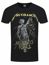 Metallica T Shirt And Justice For all Tracks Official Black Mens Tee Metal Merch
