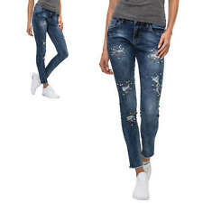 NEU Hailys Damen Jeans Stretch Denim Skinny Fit Used Look Casual Young Fashion