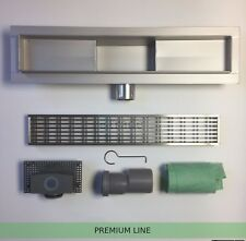 STAINLESS STEEL LINEAR SHOWER DRAIN WETROOM BATHROOM CHANNEL GULLY TRAP WASTE