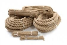 24mm 100% Natural Jute Rope Braided Twisted Decking Garden Boating Camping