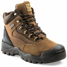 Buckler BSH002BR Waterproof Anti-Scuff Safety Work Boots Brown (Sizes 6-13)