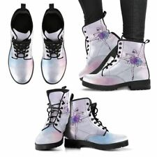 Ballet Dancer Boots Women Girl Hand Printed Comfort Leather Shoes