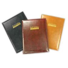A - Z Index Leather Cover Executive Padded Address Book Assorted Colours 11cm