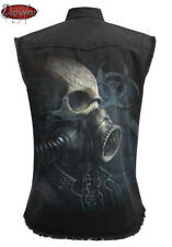 Spiral Direct BIO-SKULL SLEEVELESS STONE WASHED WORKER/Shirt/Steam Punk/Rock/Top