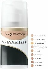 Max Factor Colour Adapt Skin Tone Make Up Pump 34ml - Choose Your Shade - New