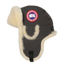 New Mens Canada Goose  Hat - Graphite Shearling Aviator