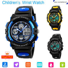 Kids Children Boy Girl Waterproof Sports Analogue Digital Wrist Watch Stopwatch