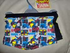2 PACK MARVEL COMIC BOYS BOXERSHORTS  -AGES 6/7 - -12/13 YRS   BLUE/WHITE MIX