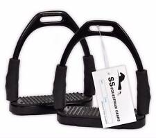 BENDY IRONS STAINLESS STEEL FLEXI SAFETY STIRRUPS-HORSE RIDING -EQUESTRIAN SSEG